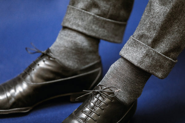 Black & mottled grey - Wool