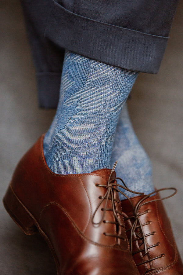 Blue & light blue - Wool