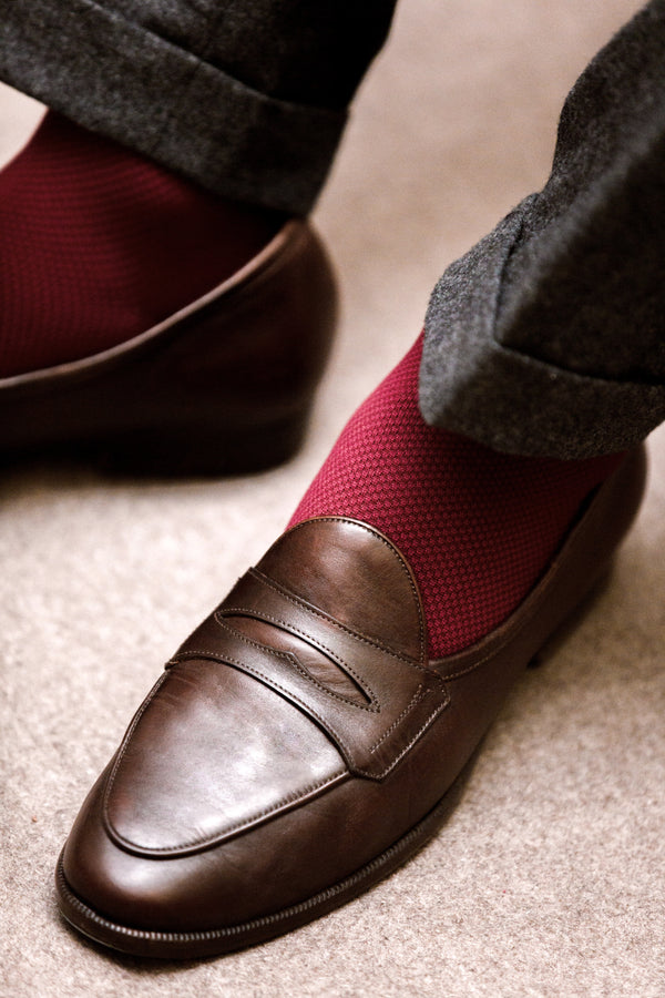 Burgundy - Compression socks