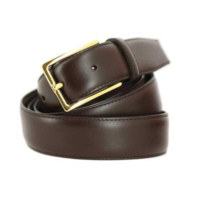 Dark brown golden buckle
