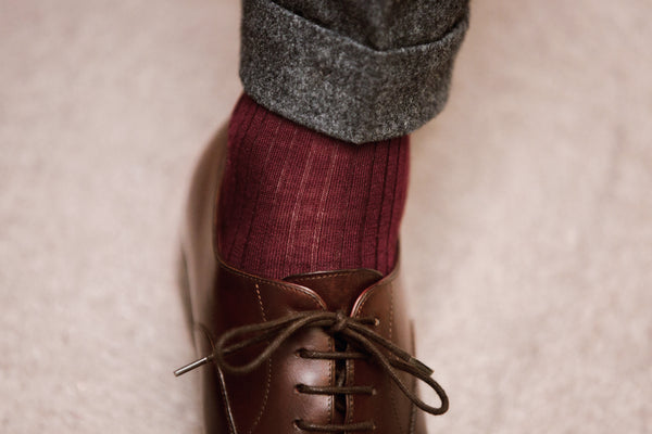 Burgundy - Merino wool