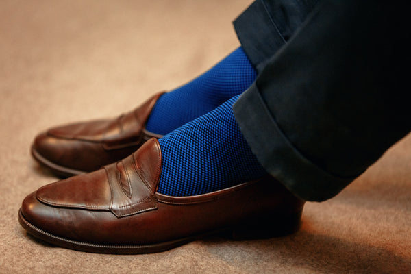 Navy blue & Royal blue - compression socks