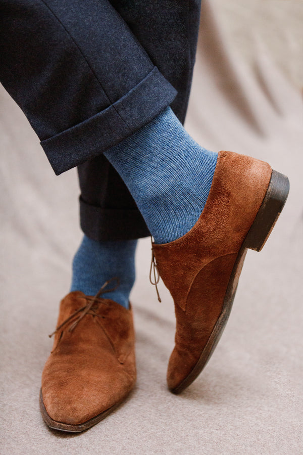 Mottled blue - Wool & Cashmere