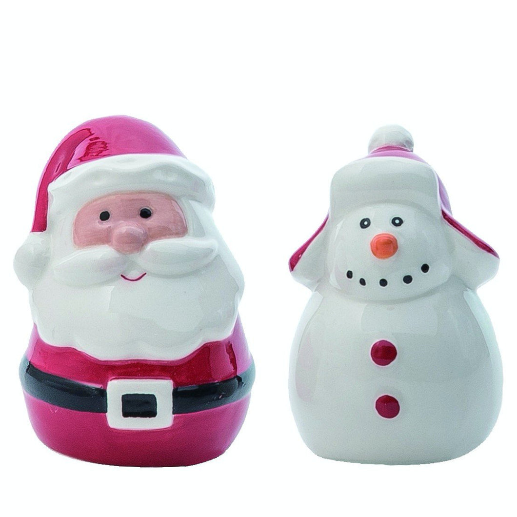 Santa and Snowman Salt and Pepper Shakers