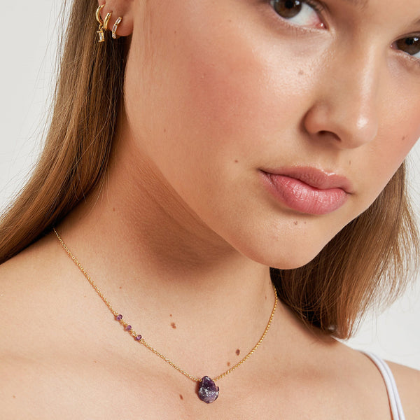 PHOENIX GOLD AND AMETHYST NECKLACE