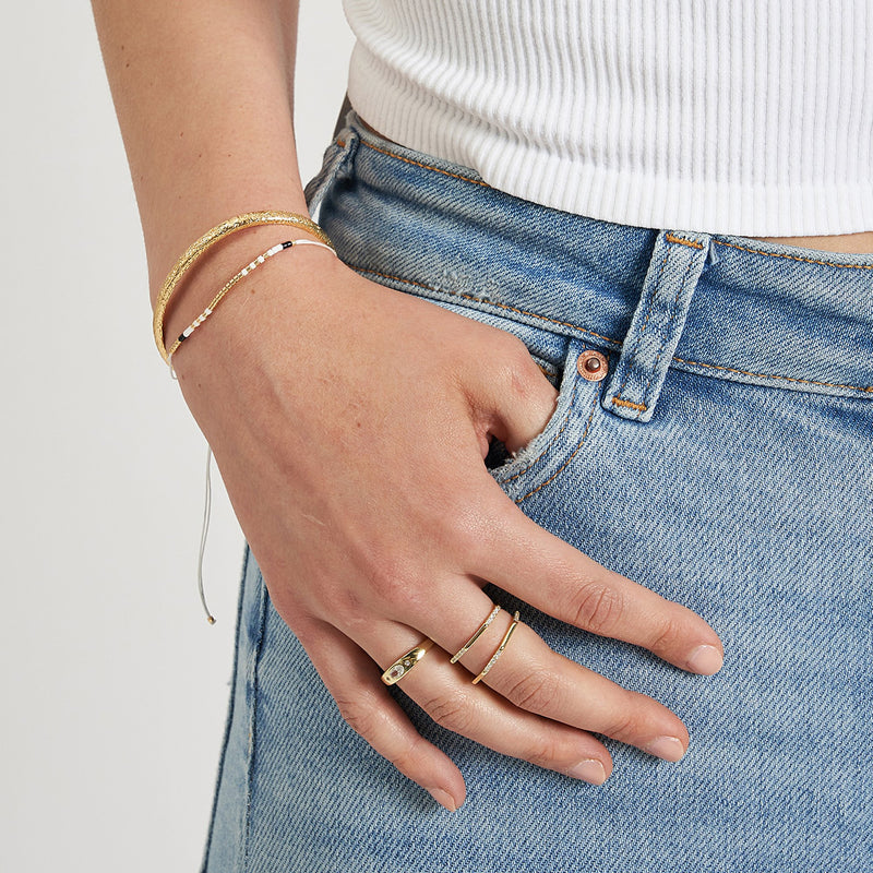 Sansa Stacking Ring - Clear Quartz