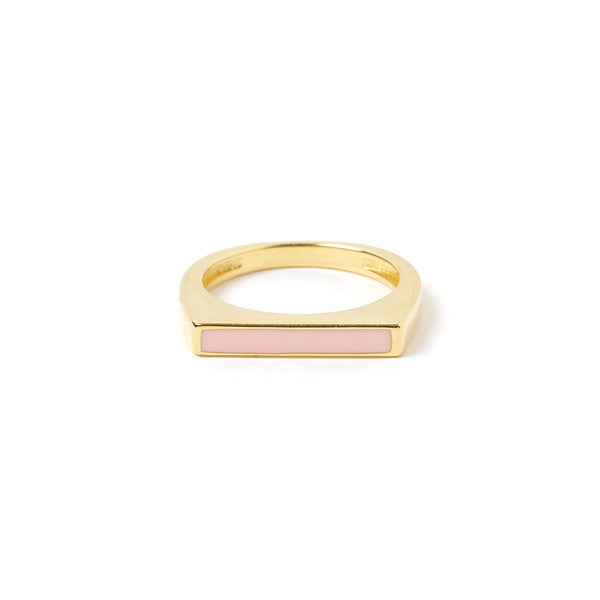 Anillo Gold and Enamel Ring - Blush