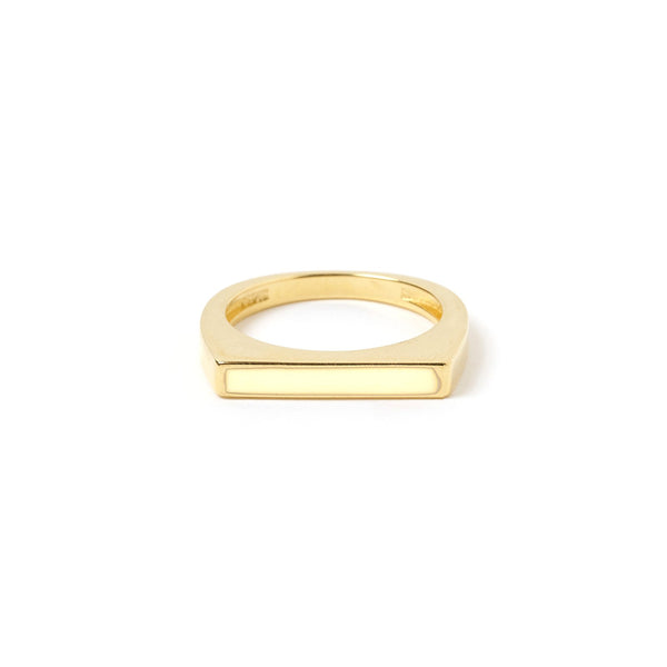 Anillo Gold and Enamel Ring - Off White