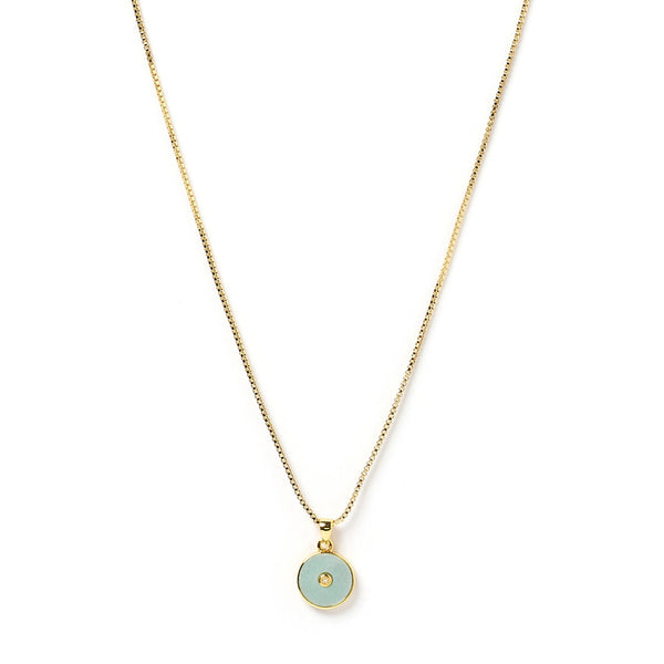 Bohdi Gold and Amazonite Necklace