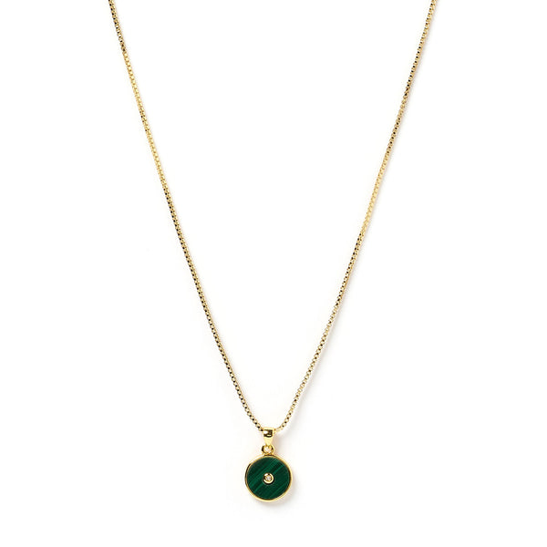 Bohdi Gold and Malachite Necklace