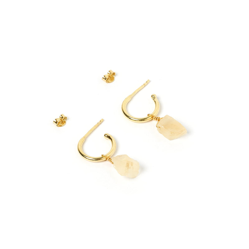 Carmen Gold and Citrine Hoop Earrings