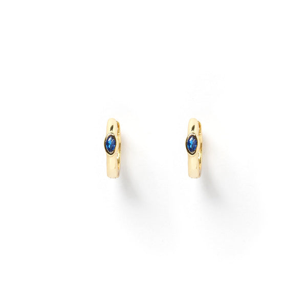 Cody Gold and Lapis Lazuli Huggie Earrings