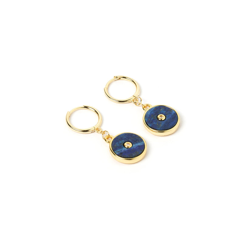 Cosmos Gold and Lapis Lazuli Earrings