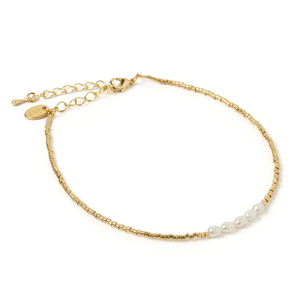 Eclipse Gold and Pearl Anklet