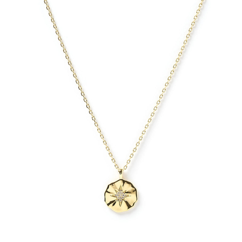 Estrella Gold & Zircon Pendent Necklace