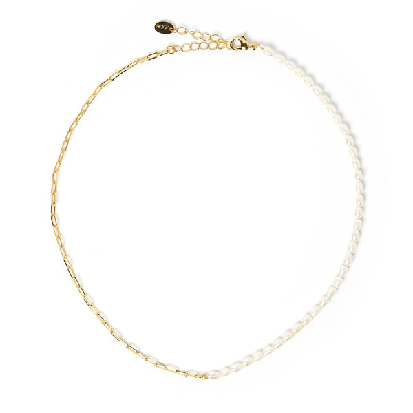 Horizon Gold and Pearl Necklace