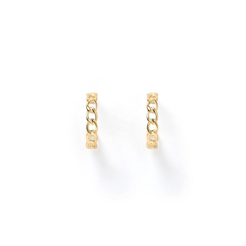 Jade Gold Hoop Earrings