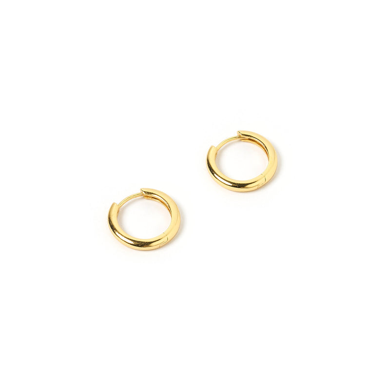 Jett Gold Hoop Earrings