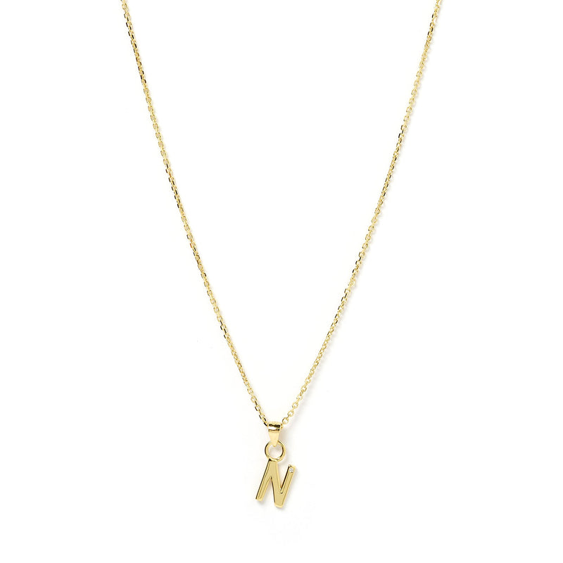 Initial Gold Charm Necklace
