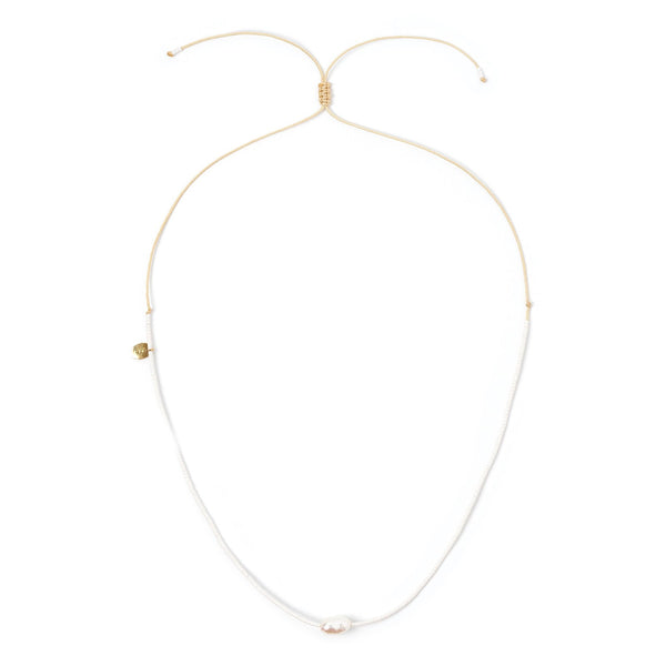 Matilda Pearl & Glass Beaded Necklace - White