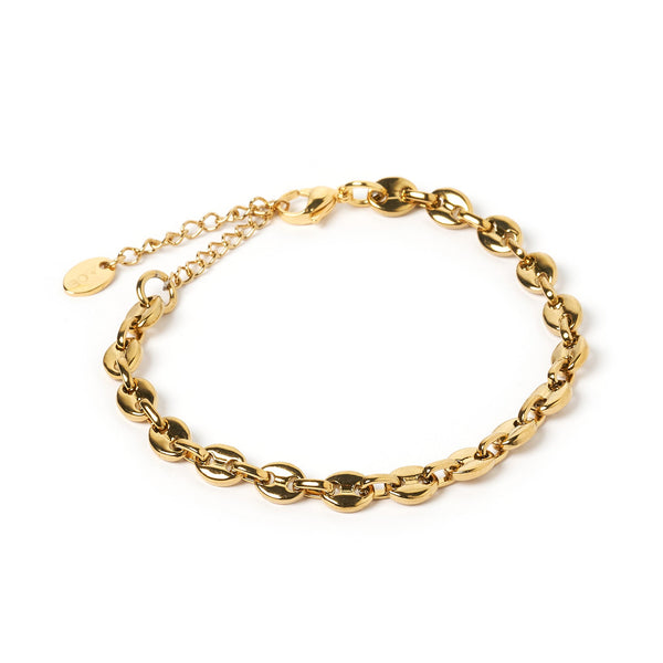 Mercury Gold Chain Bracelet