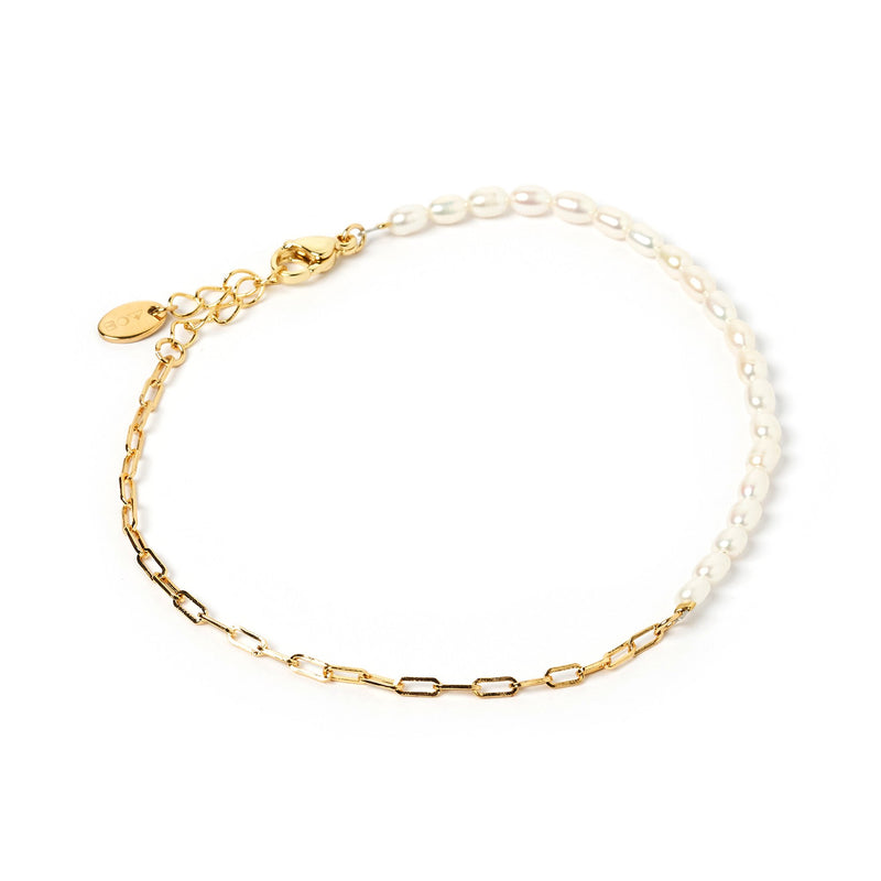 Milky Way Gold and Pearl Anklet