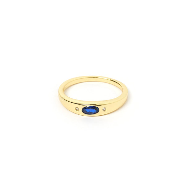 Mystique Gold and Lapis Lazuli Ring