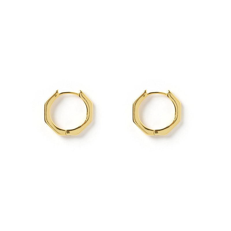 Noah Gold Hexagon Earrings