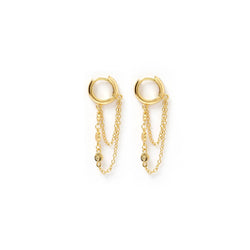 Paloma Gold Huggie Earrings