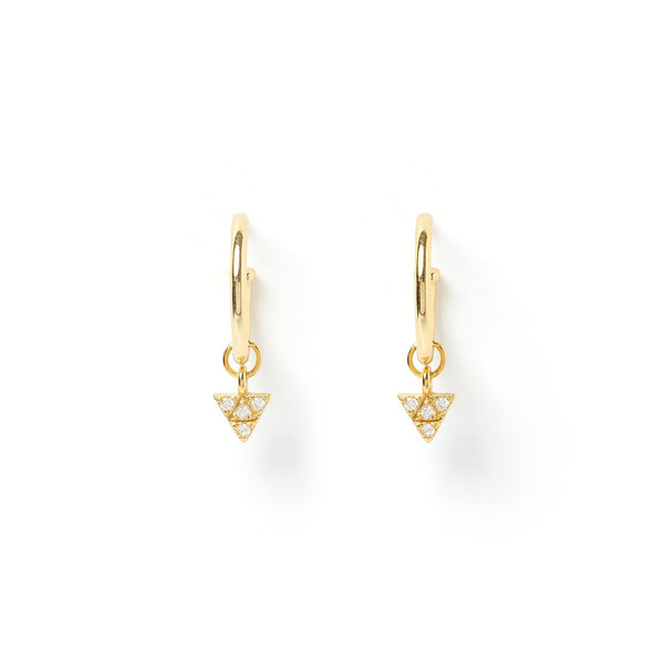 Piccolo Gold Charm Hoop Earring