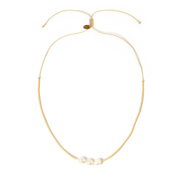 Sage Gold and Pearl Choker - Cream