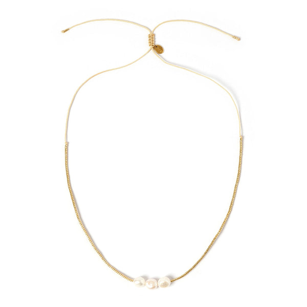 Sage Gold and Pearl Choker - Gold
