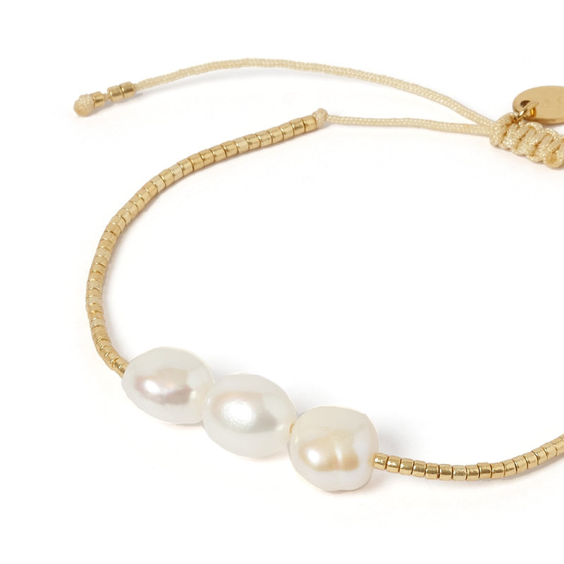 Serena Gold and Pearl Bracelet - Gold