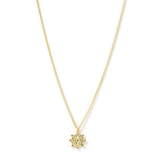 Sol Gold and Stone Pendant Necklace