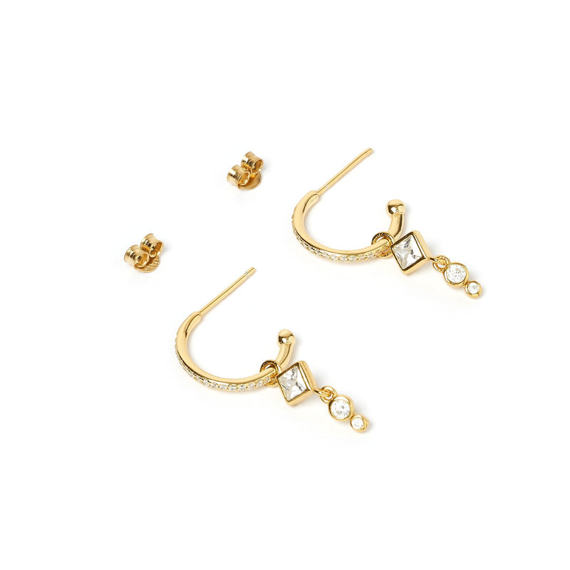 Angel Gold Charm Hoop Earring