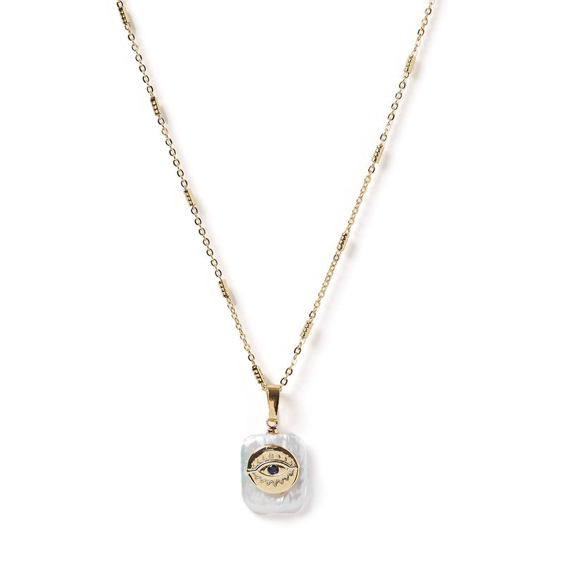 Iris Baroque Pearl & Gold Pendant Necklace