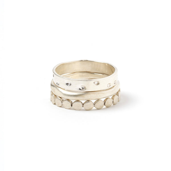 Zion Silver Ring Stack