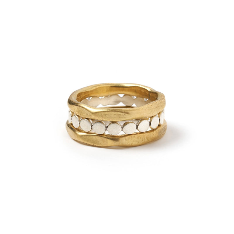 Agraba Two-Toned Ring Stack