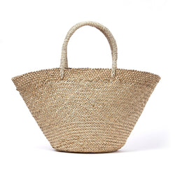 Caribbean Woven Beach Bag - Natural