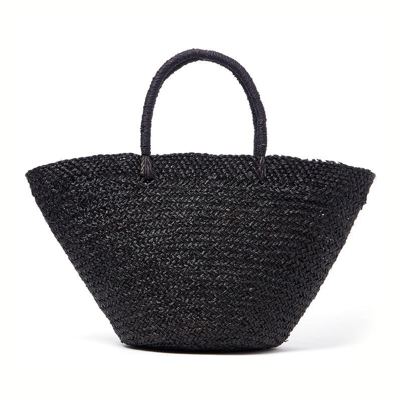 Caribbean Woven Beach Bag - Black