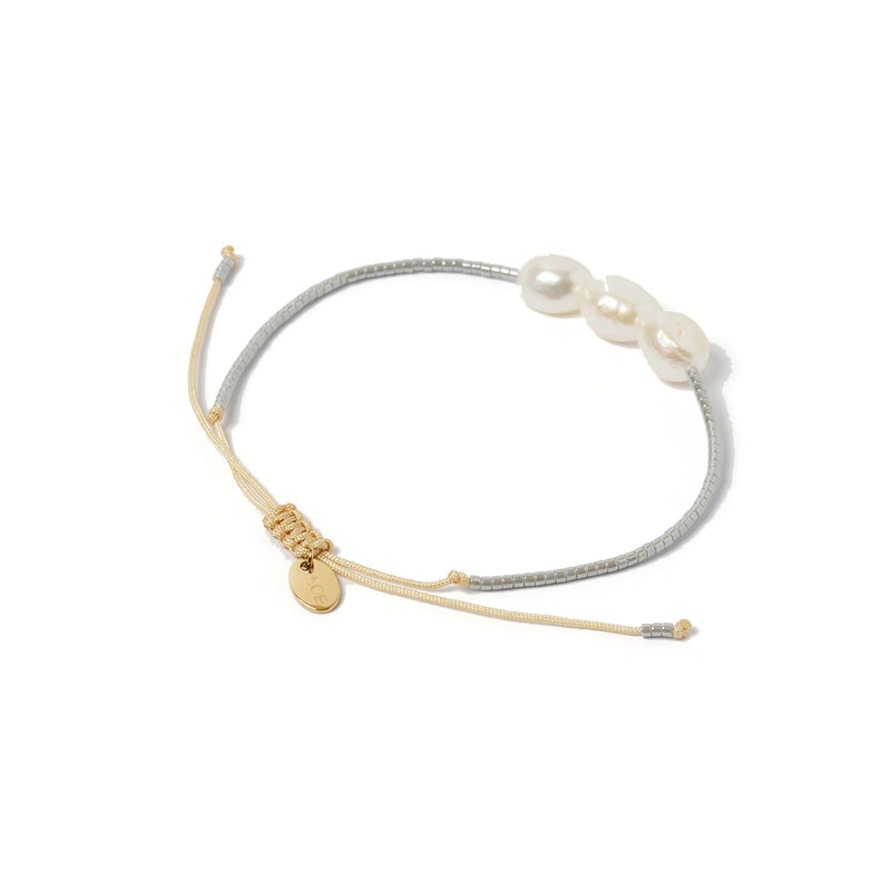 Serena Gold and Pearl Bracelet - Silver