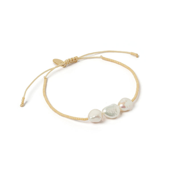 Serena Gold and Pearl Bracelet - Cream