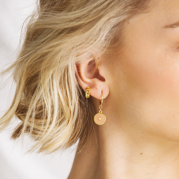 Arya Gold Huggie Earrings