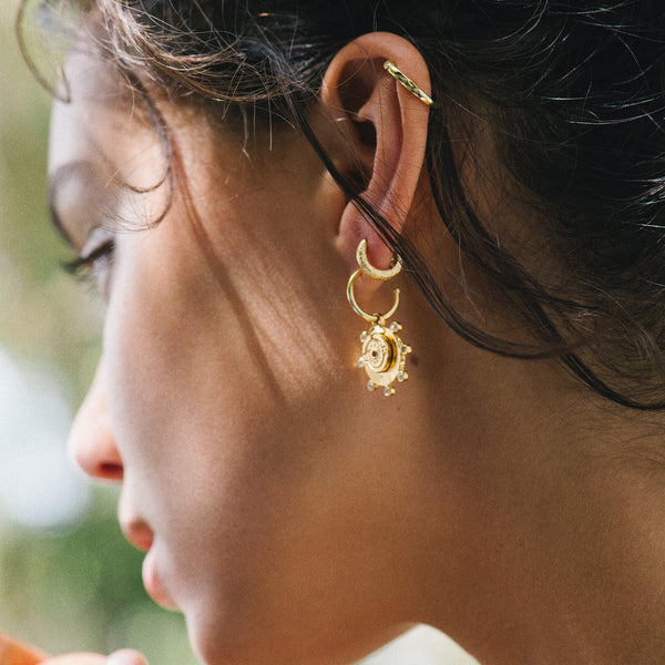 Juno Gold and Stone Earrings