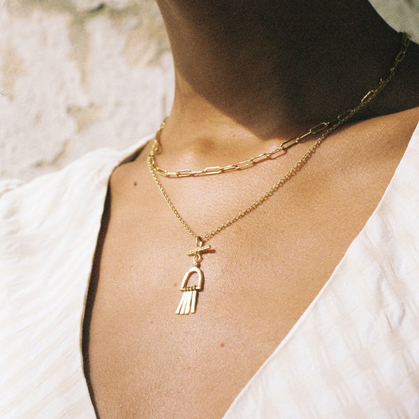 Tao Gold and Pendant Necklace