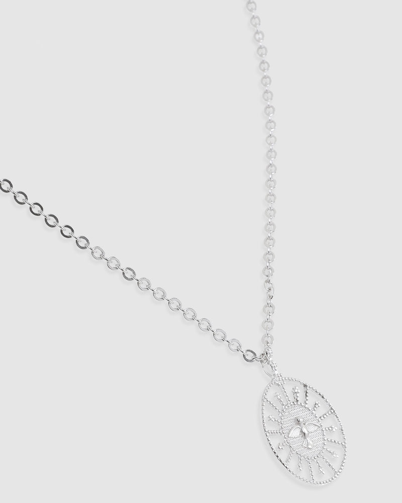 Bird-In-Flight Silver Pendent Necklace