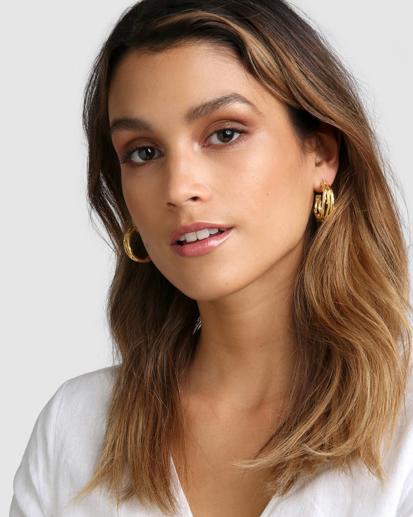 Twigs Gold Hoop Earrings