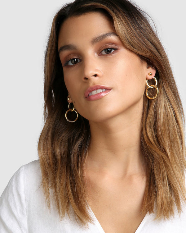 Alexia Gold Hoop Earrings