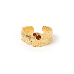 Anya Gold and Garnet Ring