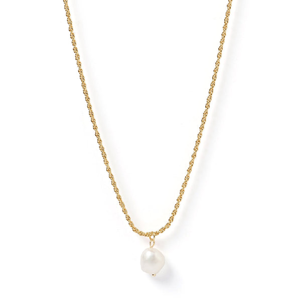 Sadie Gold and Pearl Necklace